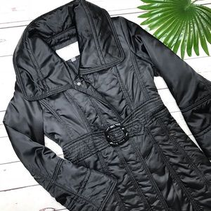 {Jessica Simpson } sz M black belted puffer trench